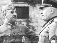 Francisco Franco con Mussolini