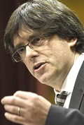 Il leader catalano Carles Puigdemont