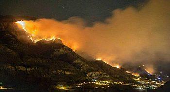 La valle di Susa devastata dai roghi