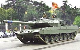 Un tank dell'esercito spagnolo