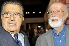 Carlo De Benedetti con Eugenio Scalfari