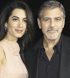 Clooney con Amal Alamuddin