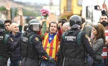 La protesta della Catalogna