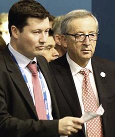 Martin Selmayr con Juncker