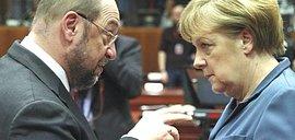 Merkel con Schulz