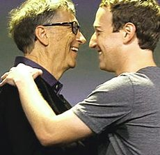Bill Gates con Mark Zuckerberg