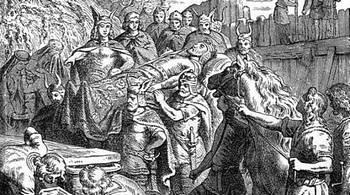 I Visigoti seppelliscono Alarico a Cosenza