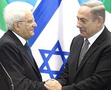 Mattarella e Netanyahu