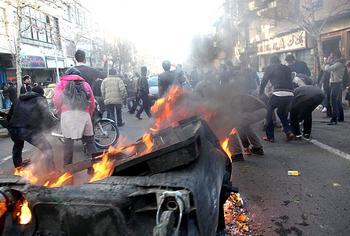 I disordini in Iran