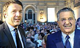 Renzi con De Benedetti