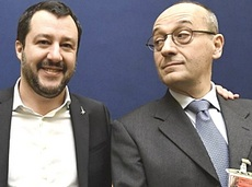 Bagnai con Salvini