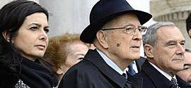Boldrini con Napolitano e Grasso