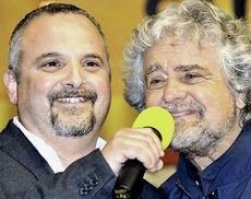 David Borrelli con Beppe Grillo