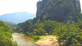 Il fiume Rual in Malesia