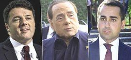 Renzi, Berlusconi e Di Maio