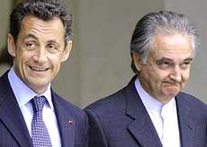 Sarkozy con Jacques Attali