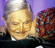 Emma Bonino con George Soros
