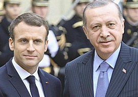 Macron con Erdogan