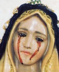 Madonna, lacrimazione