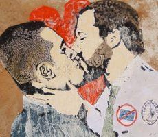 Murales Salvini-Di Maio