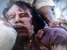 La morte di Gheddafi
