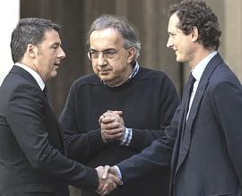 Marchionne tra Renzi e John Elkann