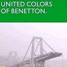 Benetton e il viadotto Morandi crollato