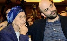Emma Bonino con Roberto Saviano