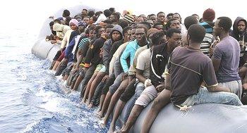 Giovani migranti africani