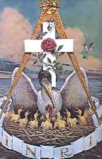 Il pellicano, simbolo dei Rosa+Croce