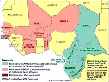 L'africa francofona sottomessa al franco Cfa