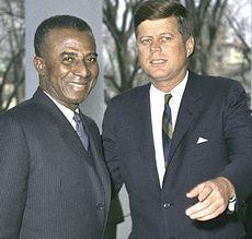 Sylvanus Olympio con Kennedy