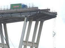 Un'immagine simbolo della catastrofe di Genova
