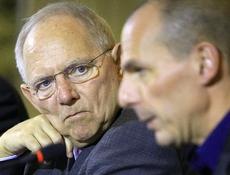 Varoufakis con Schaeuble