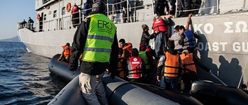 Gli operatori Erci in azione nell'Egeo