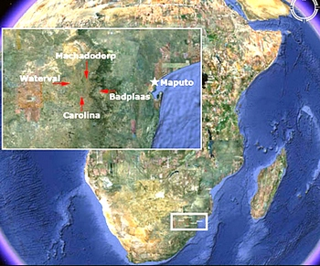 La localizzazione geografica dell'ipotetica metropoli