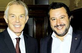 Matteo Salvini con Tony Blair