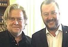 Salvini con Steve Bannon