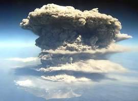 Gigantesca eruzione vulcanica
