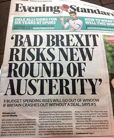 L'articolo sull'Evening Standard