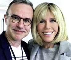 Philippe Besson con Brigitte Macron
