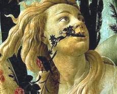 La Primavera di Botticelli, particolare