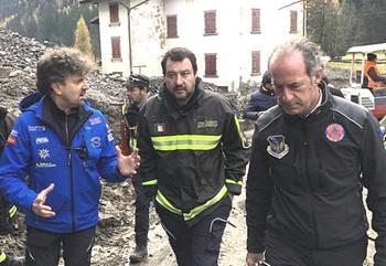 Salvini con Zaia in visita nel Bellunese