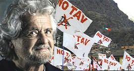 Beppe Grillo, sostenitore dei NoTav
