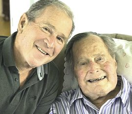 Bush padre e figlio