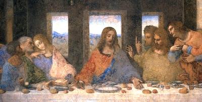 Il Cenacolo di Leonardo, particolare
