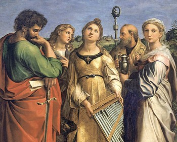 L'estasi di Santa Cecilia, particolare