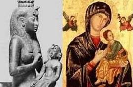 Madonna e bambino, specchio dei preesistenti Iside e Horus
