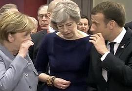 Merkel, May e Macron