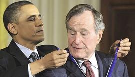 Obama e Bush senior